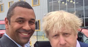 James Cleverly and Boris Johnson