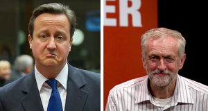 Jeremy Corbyn Happy David Cameron Sad