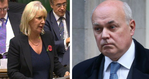 Nadine Dorries says that Iain Duncan Smith 'bribed' her for her vote on ESA cuts
