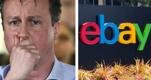David Cameron has been listed on eBay