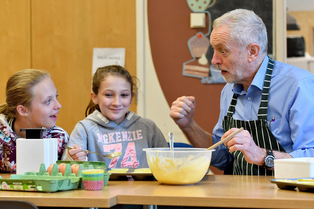 Corbyn Cooking with Schoolkids