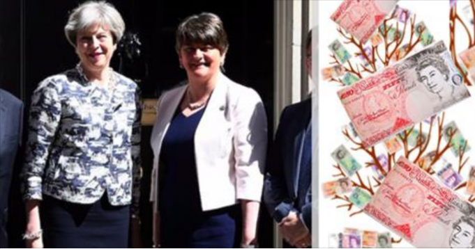 You do realise that Theresa May just used YOUR tax money to BRIBE the DUP? How is this even legal?!