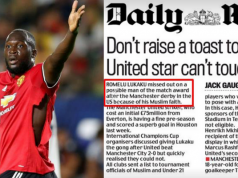 Romelu Lukaku Christian Muslim Daily Mail Mainstream Media