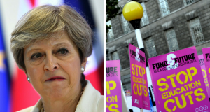 May, Education Cuts