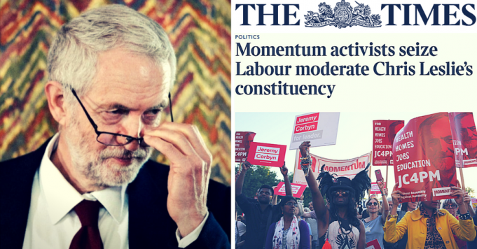 Corbyn The Times Seize Constituency Momentum The Times