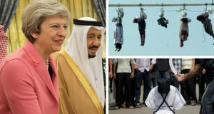 Theresa May King Salman Saudi Arabia