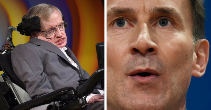 Hawking responds to comments made by Hunt over NHS