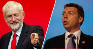 Jeremy Corbyn (Left/Red) Iain McNicol (Right/Blue) - Credits: Danny Lawson/PA/Getty