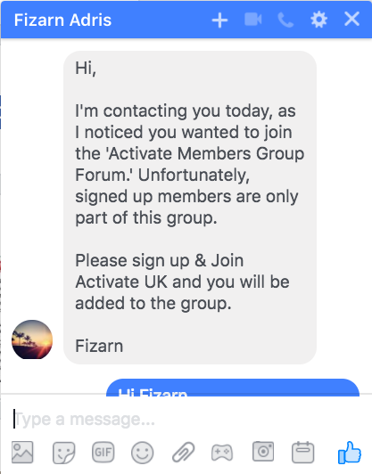 Fizarn Adris Activate Membership Chat 1