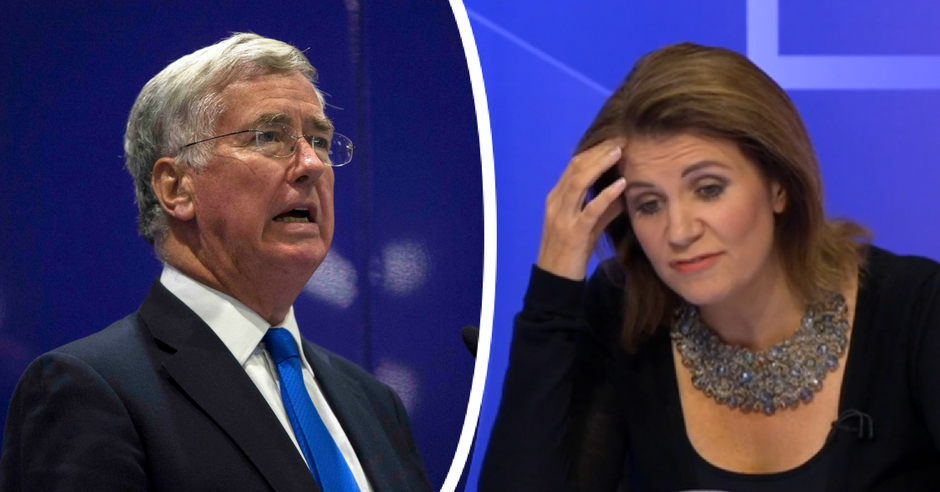 Michael Fallon admits touching knee of Julia Hartley-Brewer