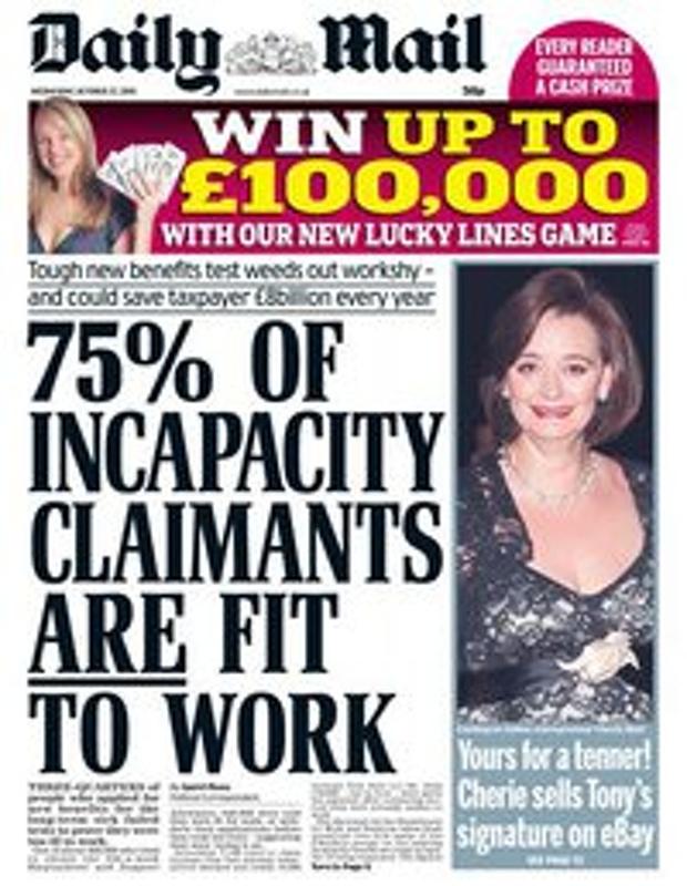 EvolvePolitics.com | Daily Mail Welfare