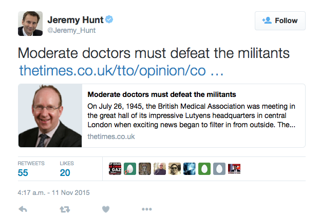 EvolvePolitics.com | Jeremy Hunt - Militants