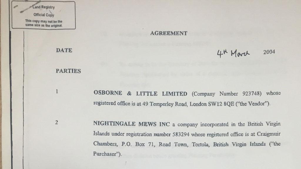 George Osborne & Little Nightingale Mews Tax Haven