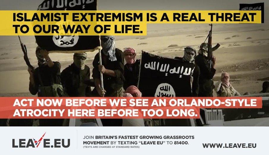 Leave.EU exploits Orlando massacre in horrifying tweet. Quickly deletes it.