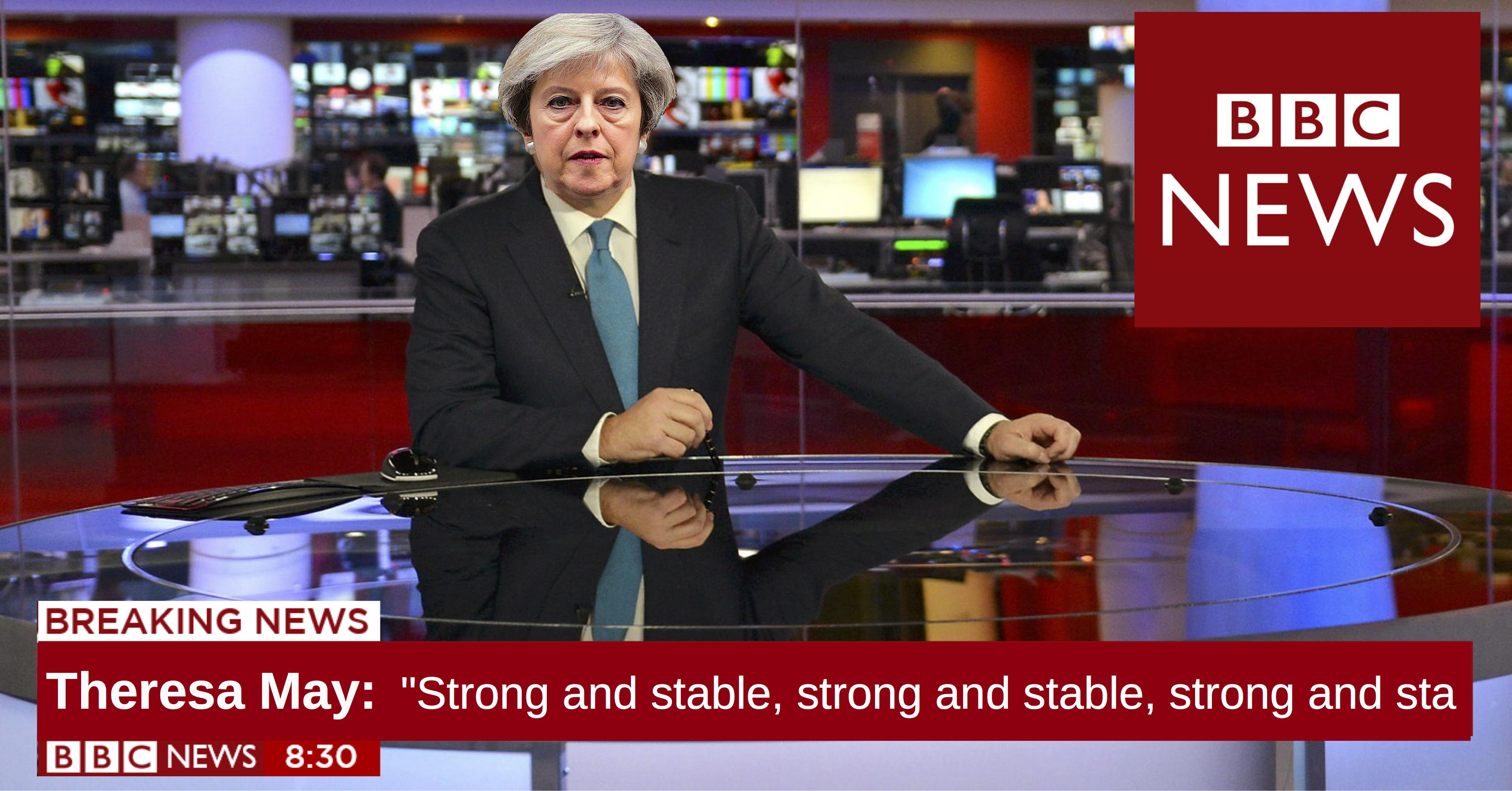 Theresa May BBC Tory Bias Conservatives Fake News