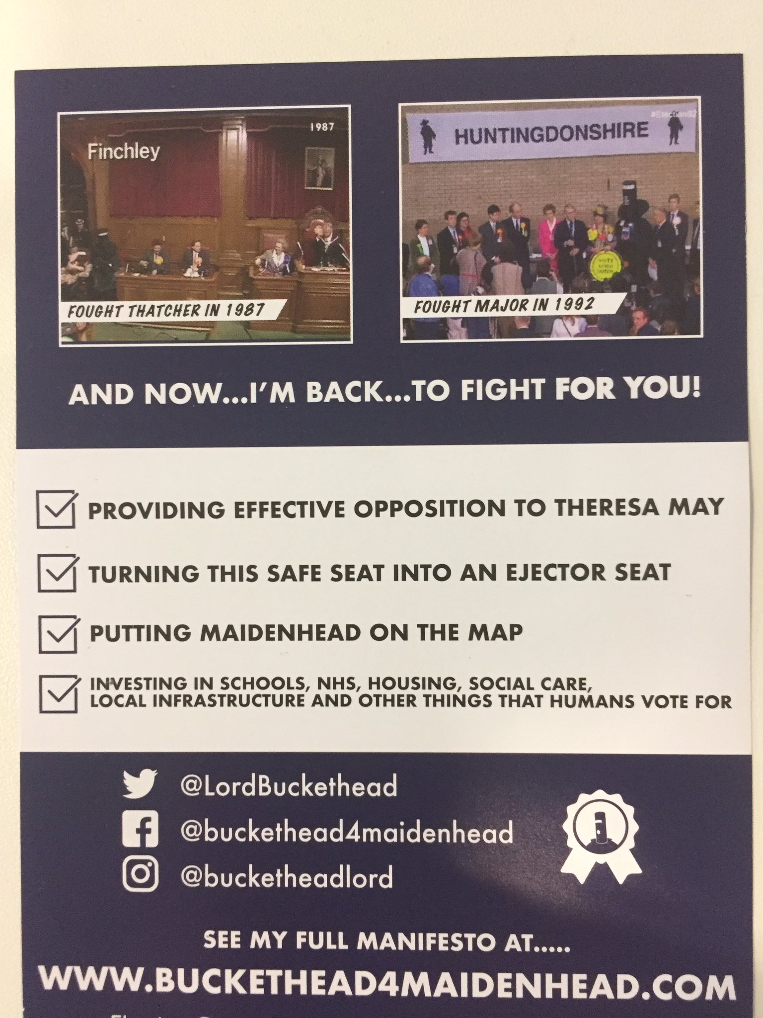 Lord Buckethead Manifesto