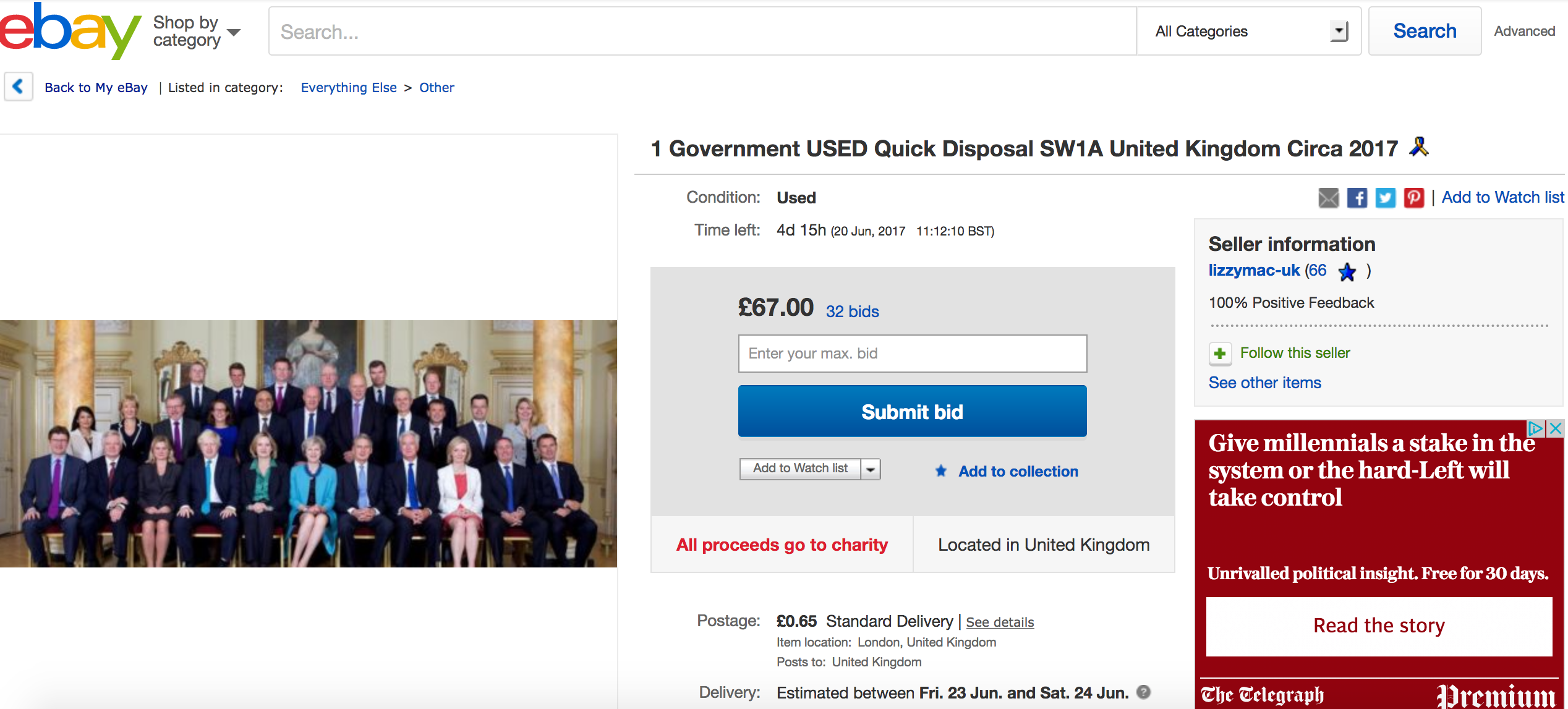Theresa May Tory Government eBay