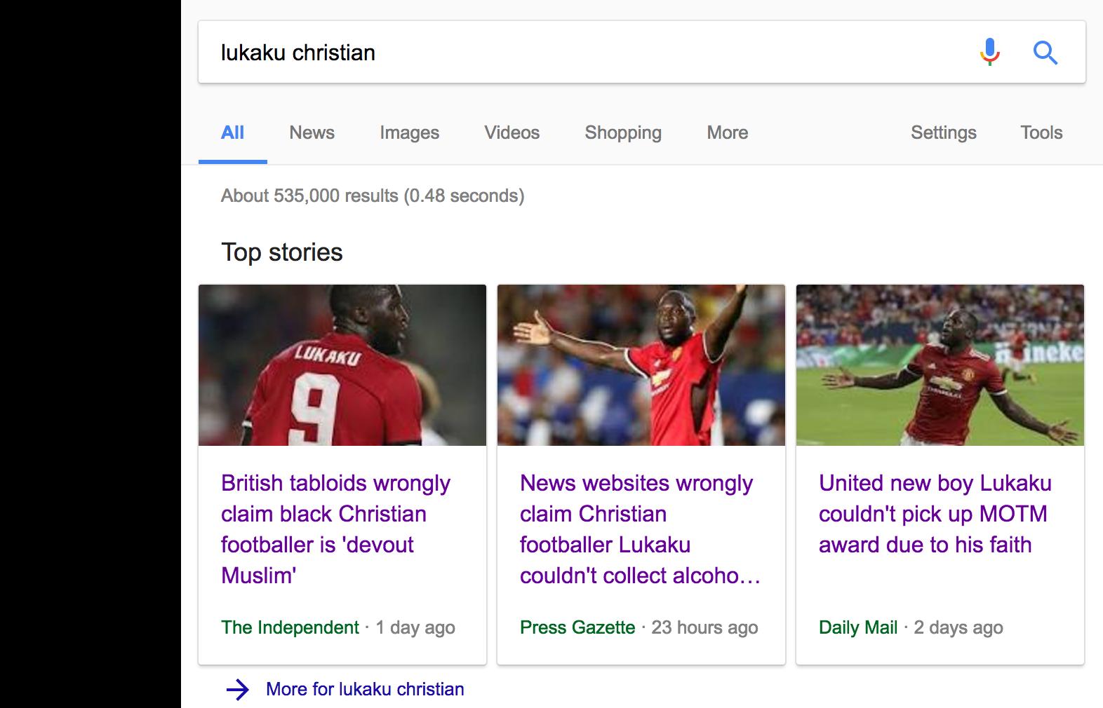 Google Lukaku Daily Mail