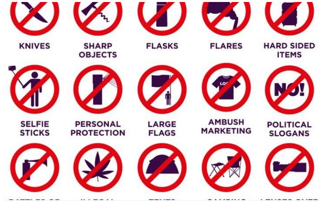 List of things banned at Wimbledon