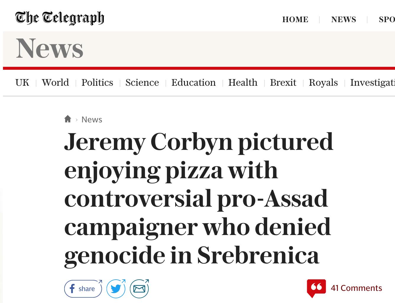 Telegraph Corbyn Smear Marcus Papadopoulos