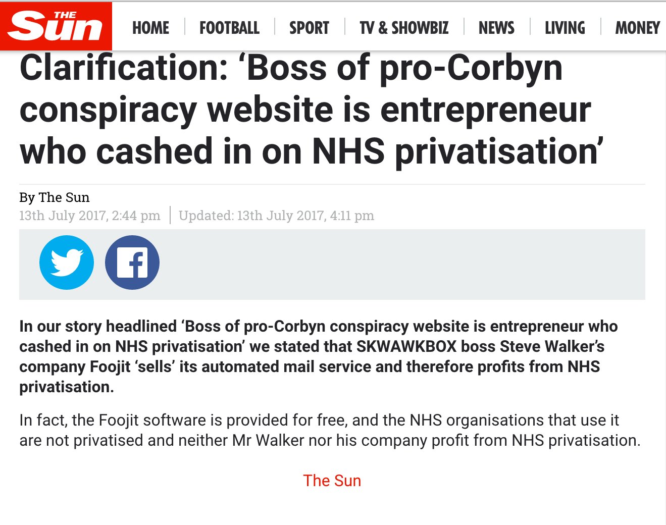 The Sun Skwawkbox Humiliating Apology