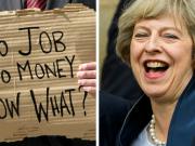 May laughing at jobless