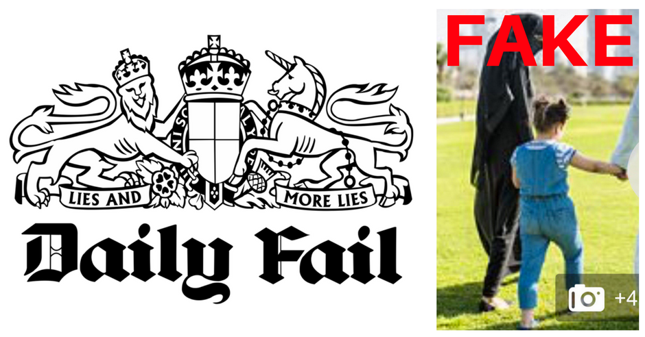 Daily Mail Fake Photoshop Muslim Foster Carer