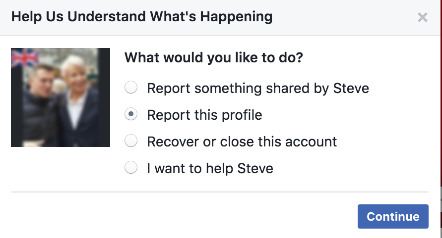 Facebook Report Troll Account Desktop 2