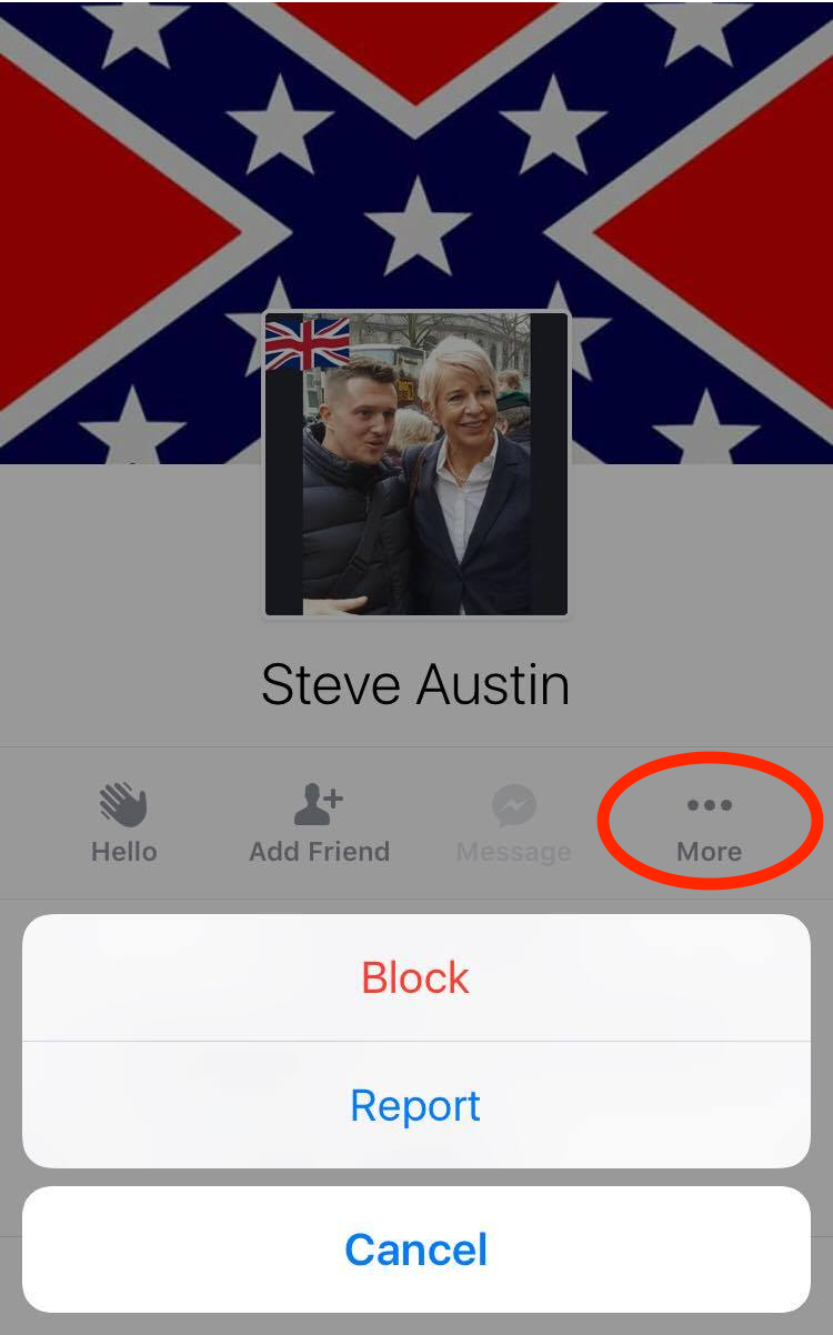 Facebook Report Troll Account Mobile 1