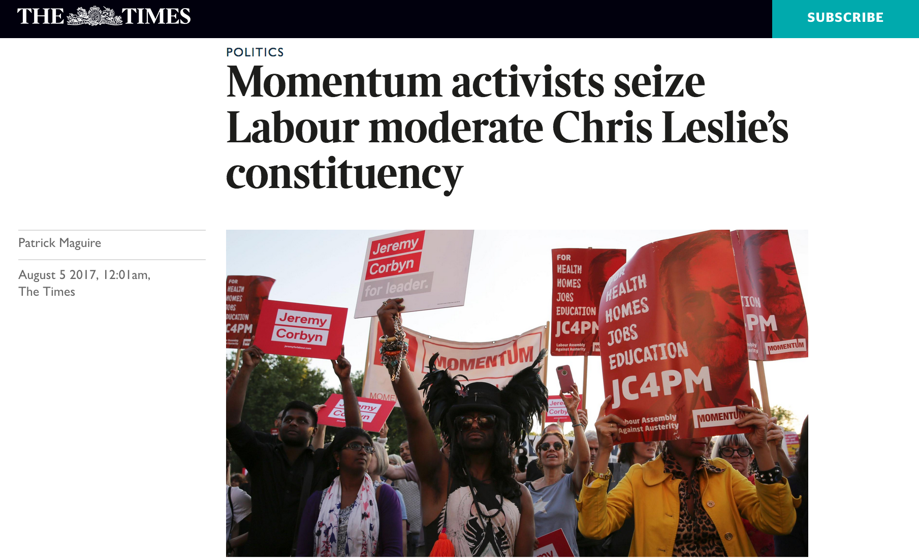 Momentum Seize The Times Chris Leslie