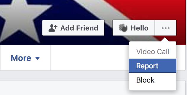 Facebook Report Troll Account Desktop 1