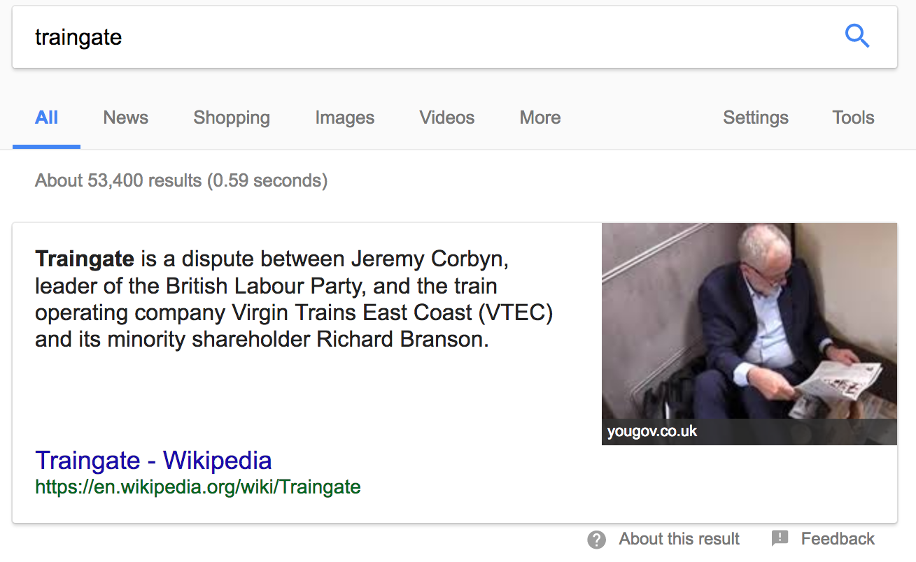 Jeremy Corbyn Traingate Wikipedia