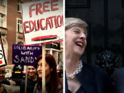 May and Gove laughing