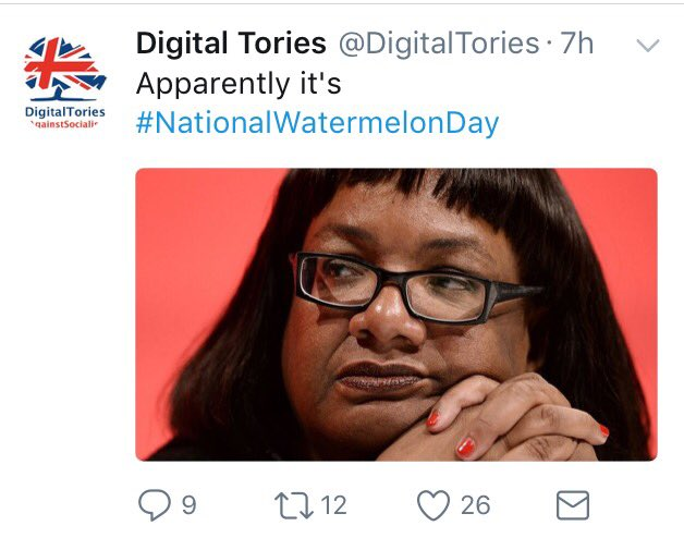 digital tories racist tweet