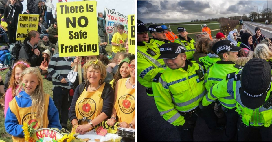 New Report Exposes Shocking Scale Of Police Brutality Against Anti-Fracking Protestors | Evolve Politics