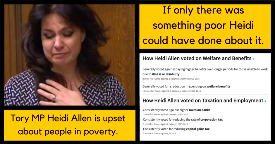 Heidi Allen Voting Record Poverty