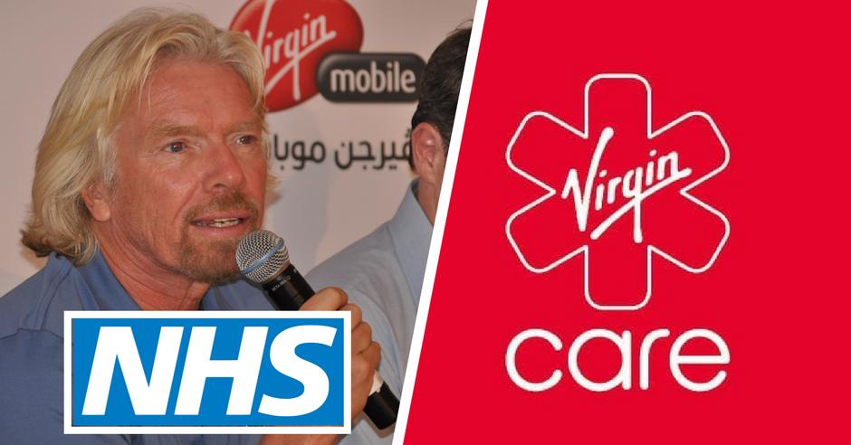 Richard Branson Virgin Care NHS Sue Petition