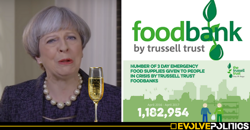 Theresa May scoffed lobster at secret £50k banquet just hours after freezing benefits for millions of Brits