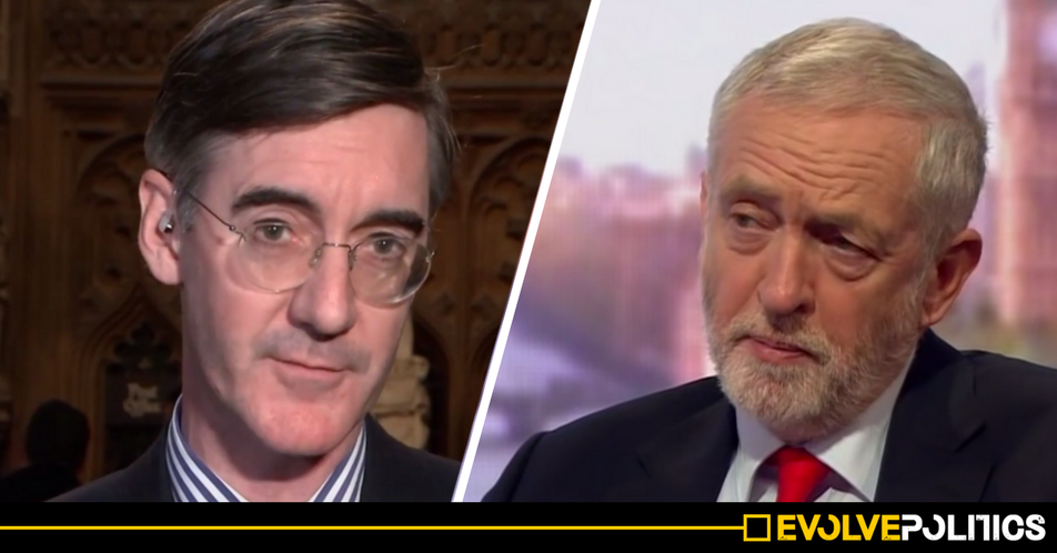 WATCH: Jacob Rees-Mogg just brazenly LIED about Jeremy Corbyn's voting record live on Channel 4 [VIDEO]