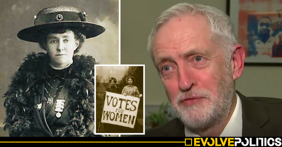 WATCH: Jeremy Corbyn was caught by a policeman sneaking into Parliament late at night fighting for women's rights [VIDEO]