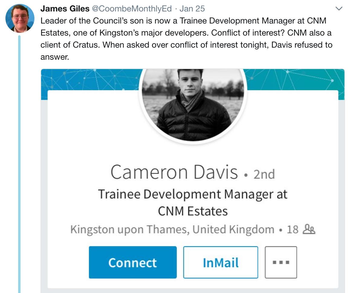 James Giles Kingston Councillor Kevin Davies