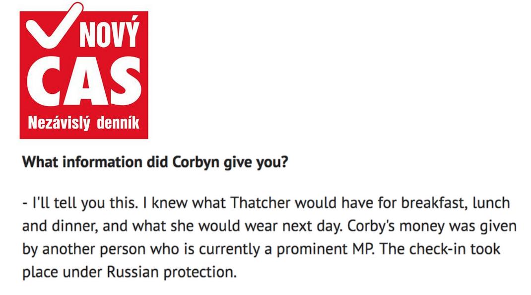 Jan Sarkocy Jeremy Corbyn Margaret Thatcher