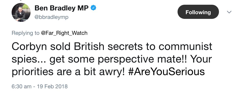 Ben Bradley Corbyn Secrets to Communist Spies