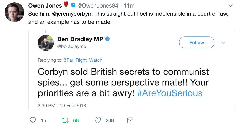 Owen Jones Ben Bradley Jeremy Corbyn Communist Spies
