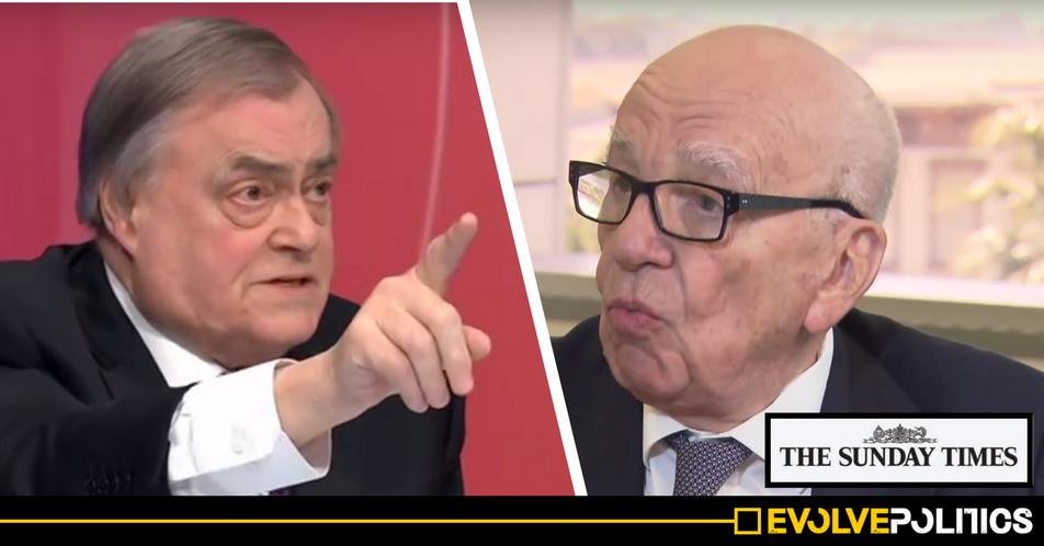 Pro-Corbyn ex-Deputy PM John Prescott taking 'legal advice' over Murdoch's Times Newspaper ''blagging' revalations