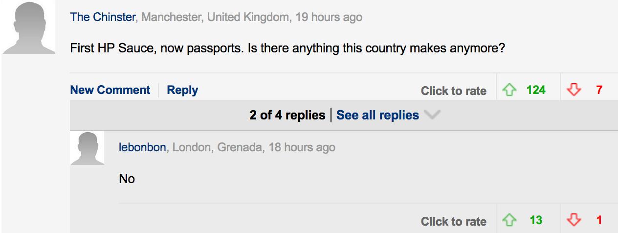 Blue Passports | DM Comment 7