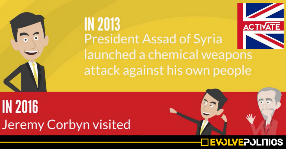 Conservative Youth Group Activate falsely accuse Jeremy Corbyn of meeting Syrian President Assad in 2016