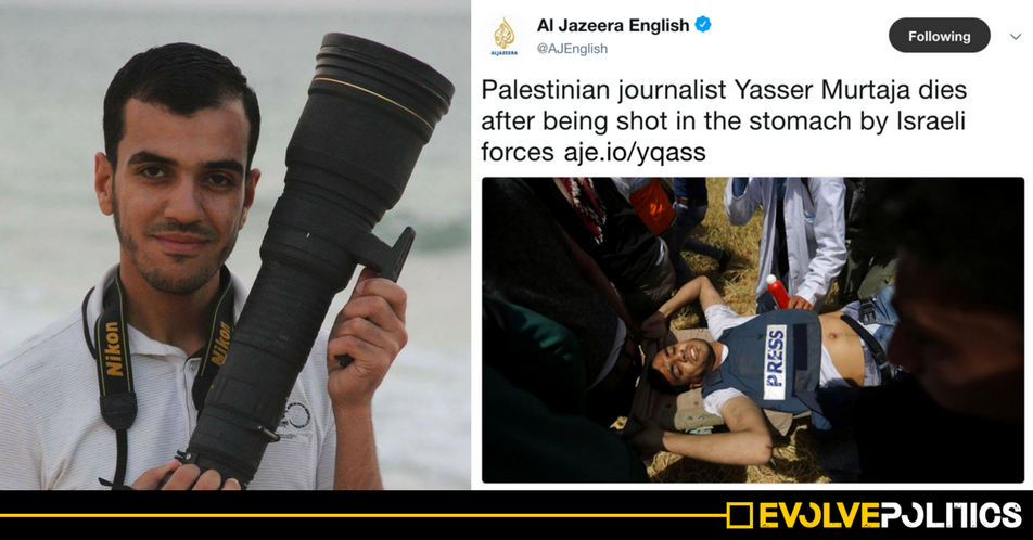 UK Mainstream Media shamefully silent as fellow journalist MURDERED by Israeli snipers during Palestinian protests