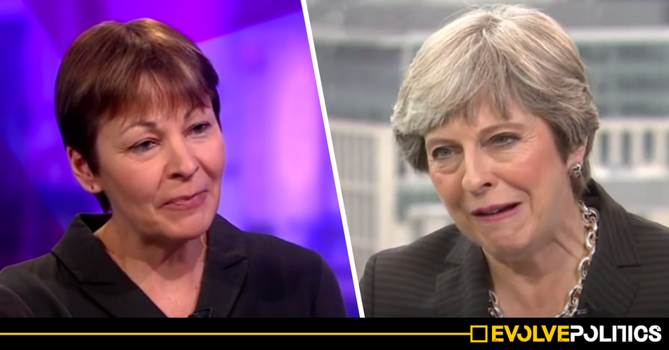 An exasperated Caroline Lucas just blasted Theresa May for