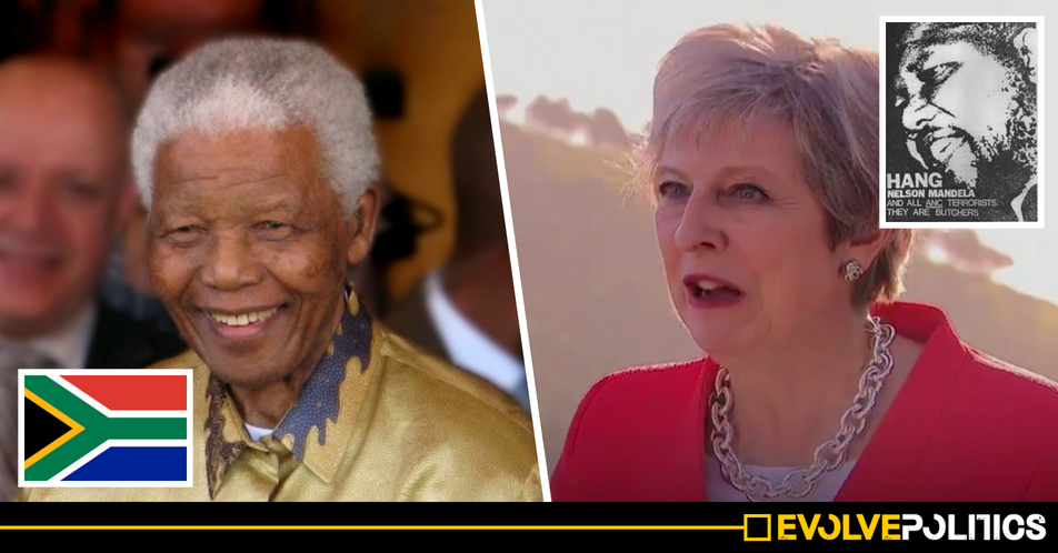 WATCH: Theresa May repeatedly refuses to deny believing Nelson Mandela was a terrorist [VIDEO]